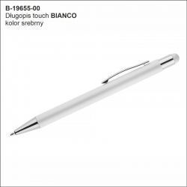 Długopis BIANCO kolor srebrny