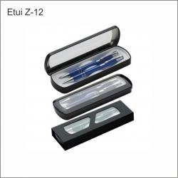 Etui Z-12 zestaw piśmienny w metalowym czarnym etui