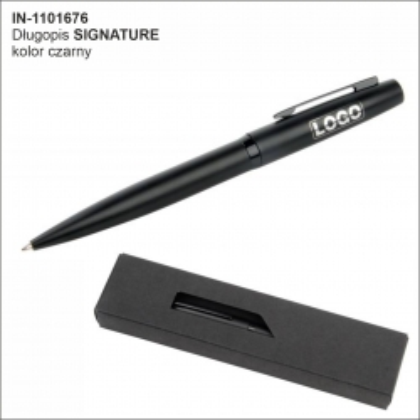 Metalowy długopis SIGNATURE, czarny